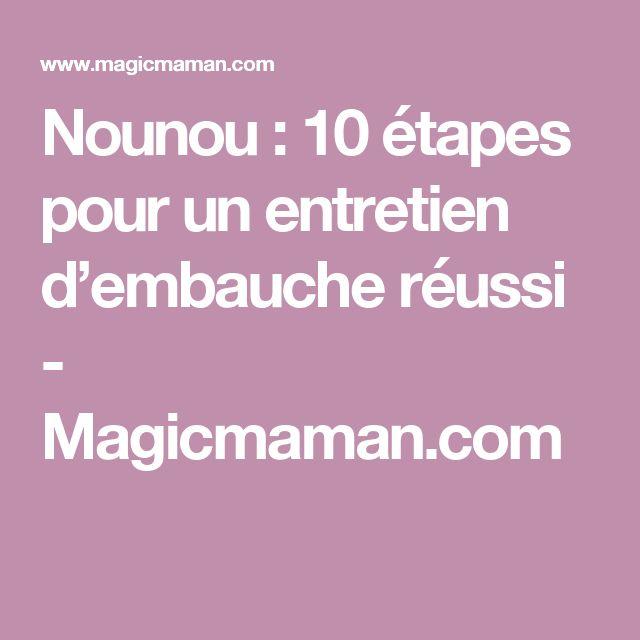 Nounou : 10 étapes pour un entretien d'embauche réussi - Magicmaman.com