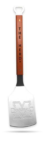 Sportula Products 7014968 Marshall Thundering Herd  Sportula by SPORTULA PRODUCTS. $24.99. Hard maple handles with durable brass rivets. Custom heat-stampled lettering. Heavy-duty stainless steel. Unique laser-cut design. convenient bottle opener. The Sportula is a heavy duty stainless steel grilling spatula that is perfectly designed for the Ultimate Tailgater.
