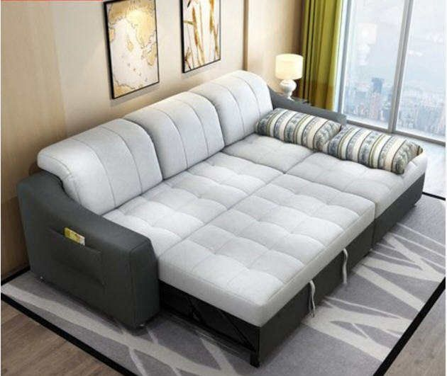 Fabric Sofa Bed With Storage Living Room Furniture Couch Living Room Cloth Sofa Bed Sectional Corner Modern Functional Headrest In 2020 Sofa Bed With Storage Couches Living Room Modern Sofa Bed