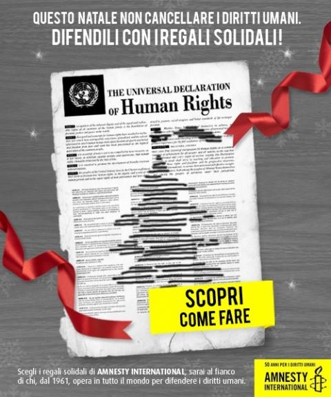 #Amnesty affida a #Slash la #campagna di #comunicazione #online per il #Natale 2011. I #Regali_Solidali che aiutano a difendere i #diritti umani
