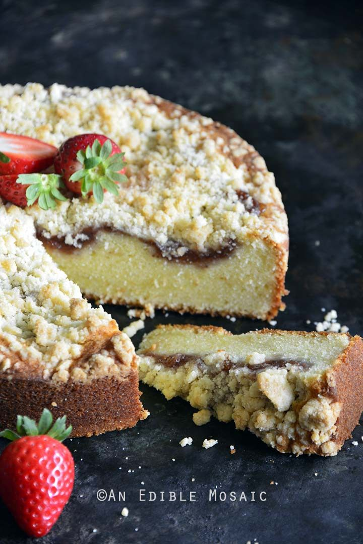 Strawberry Streusel Sour Cream Coffee Cake Strawberry Coffee Cakes Coffee Cake Recipes Coffee Cake