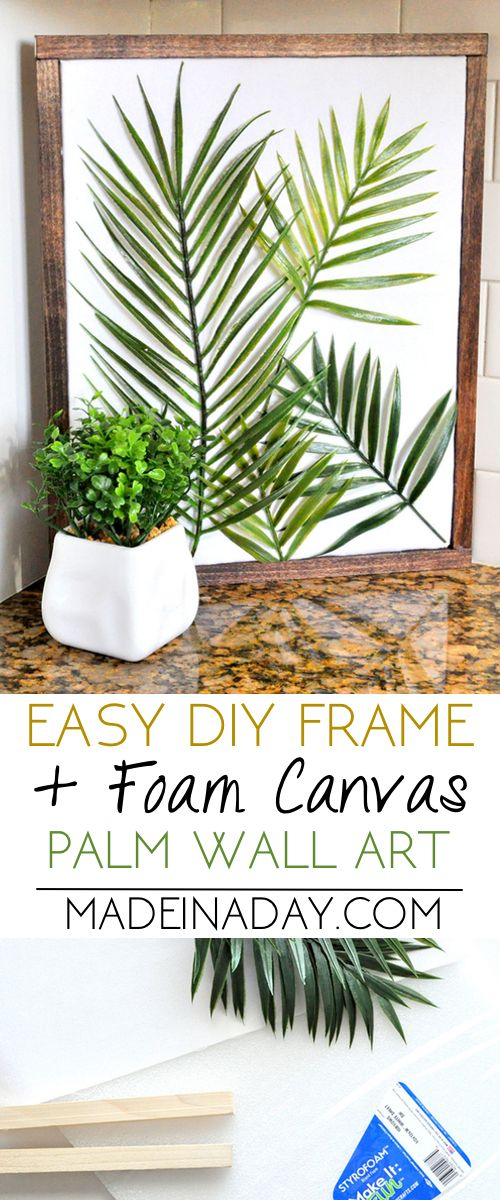 DIY Minimal Framed Palm Wall Art | Made in a Day