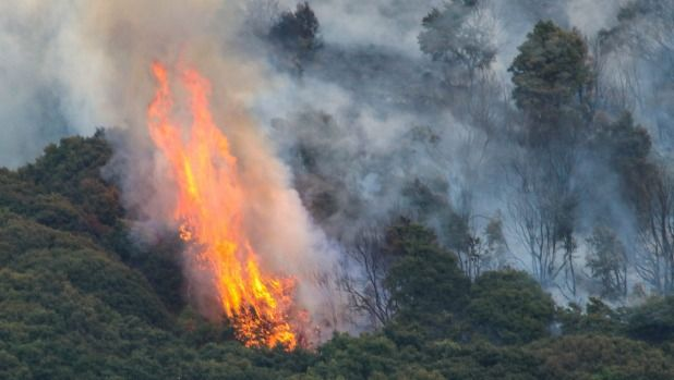 Blazes continue to burn on Christchurch's Port Hills.