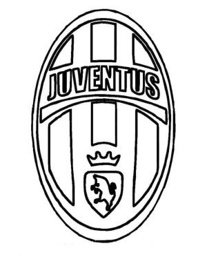 Juventus Logo Soccer Coloring Pages