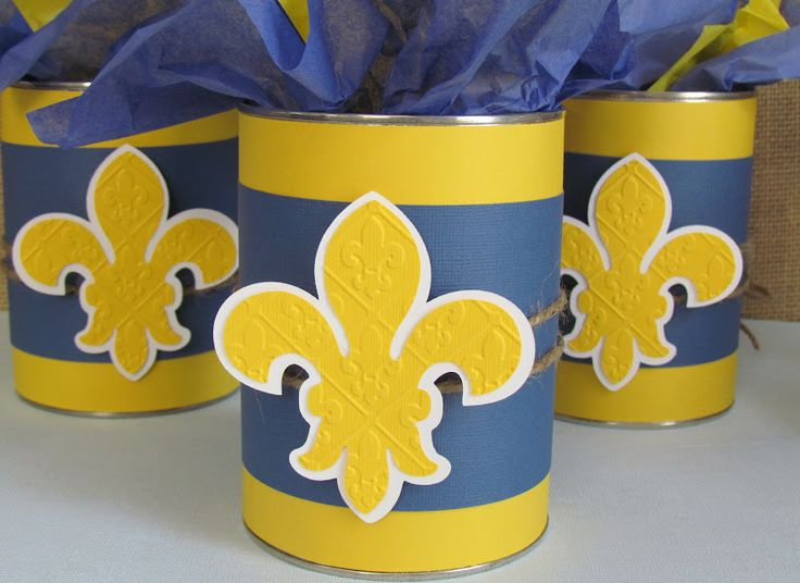 Bsa blue and gold centerpieces party invitations ideas