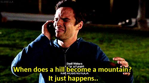 When it's 3:30 a.m. and you start contemplating the meaning of life, the universe, and everything: | 23 Moments When Nick Miller Is Ridiculously Relatable