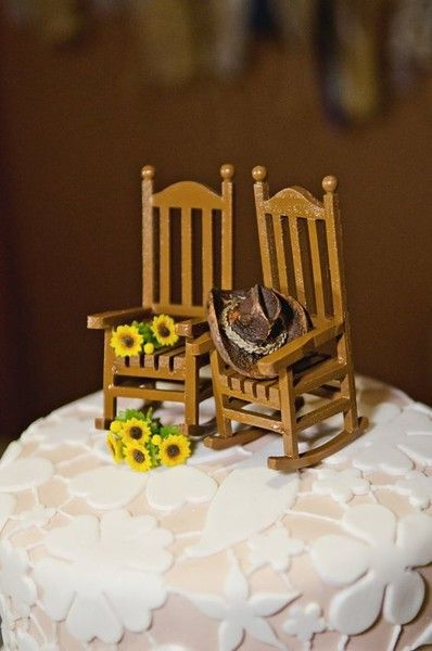 Rocking Chairs - Unique and Sweet Wedding Cake Toppers - Photos