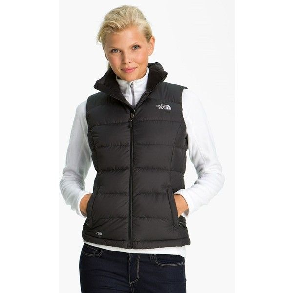 The North Face 'Nuptse 2' Quilted Down Vest (1,000 MXN) ❤ liked on Polyvore…