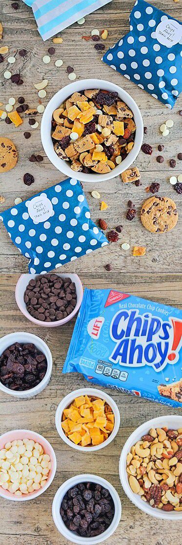 [Sp] Getting tired? Grab a handful of CHIPS AHOY! trail mix. With bites of CHIPS AHOY! cookies, dried mango, and mixed nuts, you'll feel better in no time!