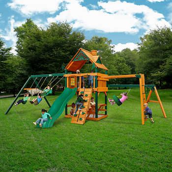 gorilla playsets homestead swing set do it yourself or installed rh pinterest com