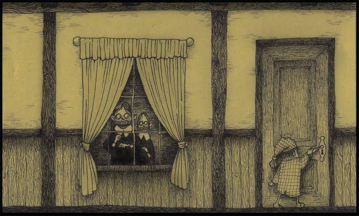 Assustadora, doentia, tensa, inquietante... Esses são alguns adjetivos utilizados para tentar classificar a arte do dinamarquês Don Kenn, que usa blocos de anotação autocolantes, os famosos post-its, para apresentar através de ilustrações um mundo inusitado e apavorante.