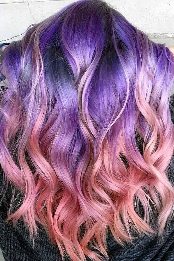 purple ombre hair short