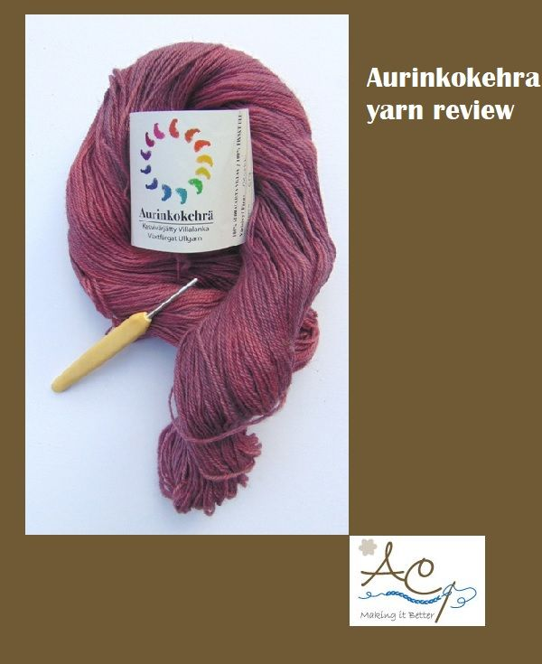 Review of 4ply yarn for crochet, Aurinkokehra yarn from