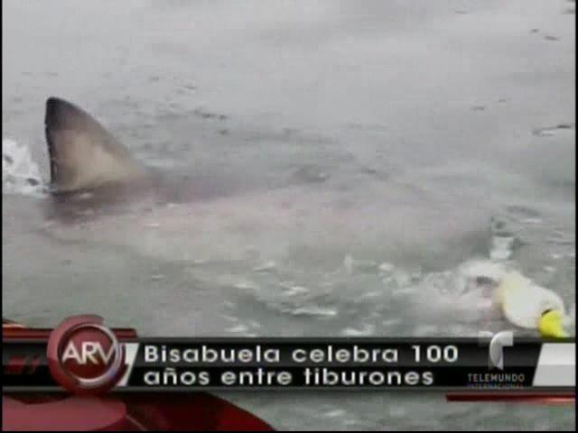 Anciana De 100 Años Pasa De Tirarse En Paracaídas A Nadar Con Tiburones #Video