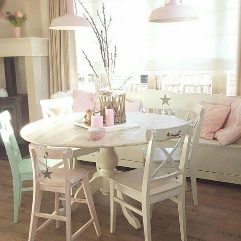 My new diningtable 💟💕 #diningtable #diningroom #happyhome #countryliving #landelijkestijl #landelijkwonen #cozyhome #homesweethome #homedecor #home #eetkamer #ikea #pink #love#flowers #flowerstagram #flowerslovers #instalove #picoftheday #cozy #wonen  #cottage  #dreamhome #homemade #kitchen #keuken #design #desenim