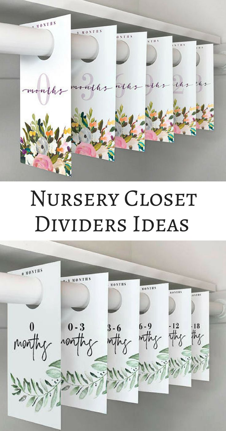 What a a clever way to organize a nursery closet. All baby clothes will be divided by size with these cute nursery closet dividers! PRINTABLE closet dividers - girl nursery - boy nursery - Baby Closet Dividers - Nursery closet organization - Baby Room - Nursery Decor - Nursery Organization - Baby clothes Organization - Baby Shower Gift - modern nursery - mature nursery- instant download #afflink #babiesnursery