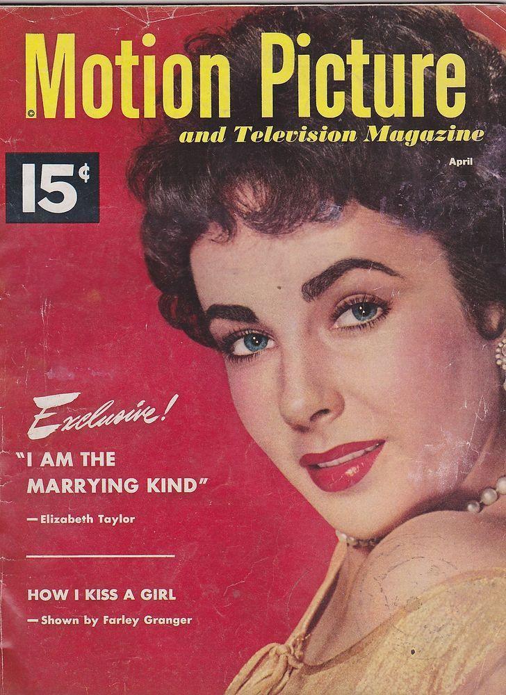 vintage movie magazines   APRIL 1952 MOTION PICTURE vintage movie magazine LIZ TAYLOR   eBay