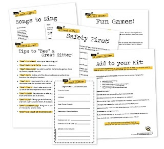 """""""Bee"""" a great sitter kit. Would be fun for Achievement Days."""