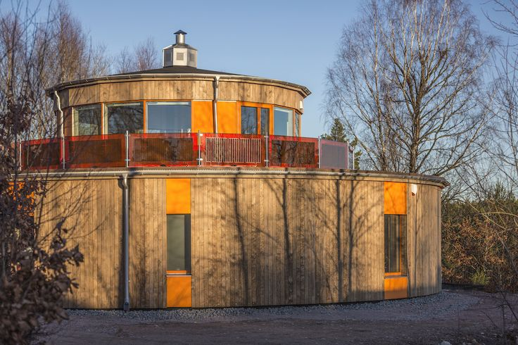 """Villa Circuitus, meaning """"a going around"""" in Latin, is Sweden's first round Passive House."""