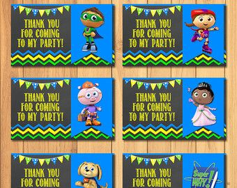 Super Why Invitation Chalkboard  Super Why by SometimesPie on Etsy