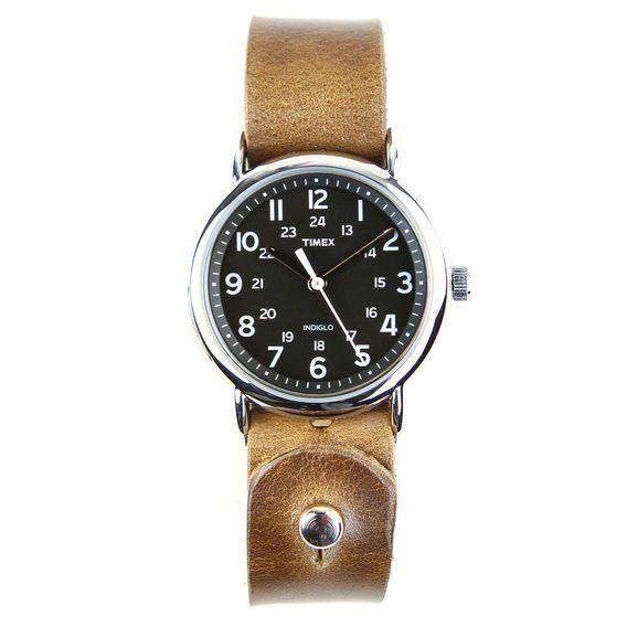 Horween Leather Timex Weekender   Huckberry