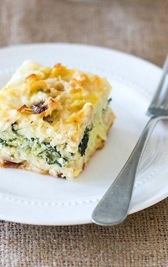 -> Gluten-Free easter brunch idea: Vegetarian Egg Bake stuffed with Greens, Garlic, and Sun Dried Tomatoes