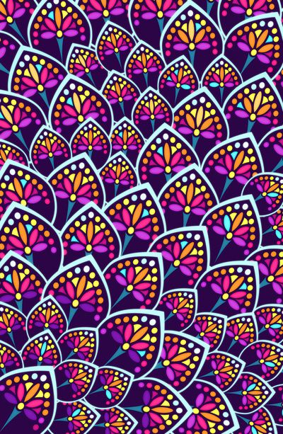 Pattern- The repetitive style makes you know what the next shape is. The colors also flow very well with each other. It makes the eye wonder with out going as far as it really need to.