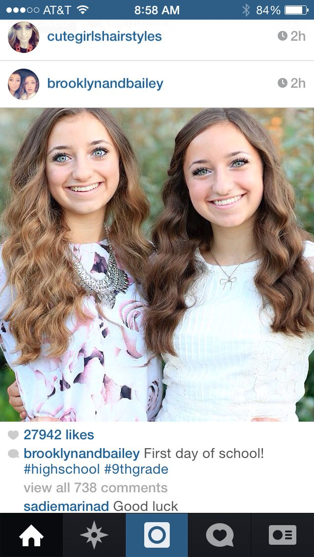 Brooklyn and Bailey looking as cute as ever on their first day!!!!!!!!!!!!!