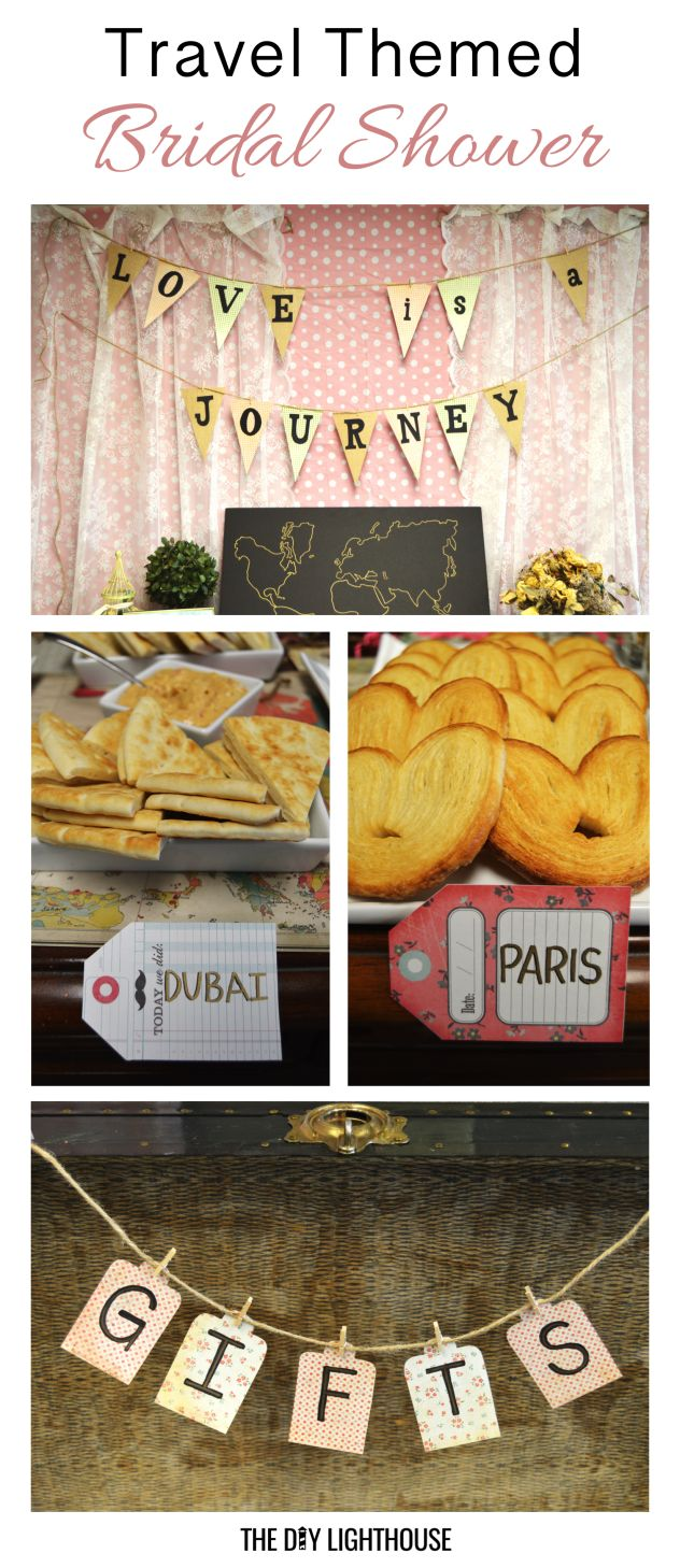 travel themed bridal shower: love is a journey