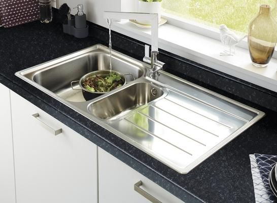 Lamona Belmont 1.5 bowl sink with Lamona Chrome Sorico monobloc tap