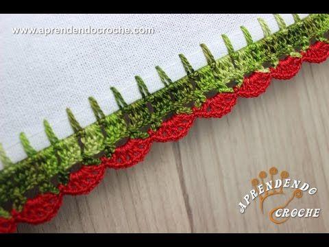 Bico de Crochê Leques - Aprendendo Croche, My Crafts and DIY Projects