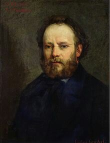 """Pierre-Joseph Proudhon(French:[pjɛʁ ʒɔzɛf pʁudɔ̃]; 15 January 1809 – 19 January 1865) was a French politician and the founder ofmutualistphilosophy. He was the first person to declare himself ananarchist[1][2]and is widely regarded as one of the ideology's most influential theorists. Proudhon is even considered by many to be the """"father of anarchism"""".[3]He became a member of theFrench Parliamentafter therevolution of 1848, whereafter he referred to himself as afederalist.[4]"""