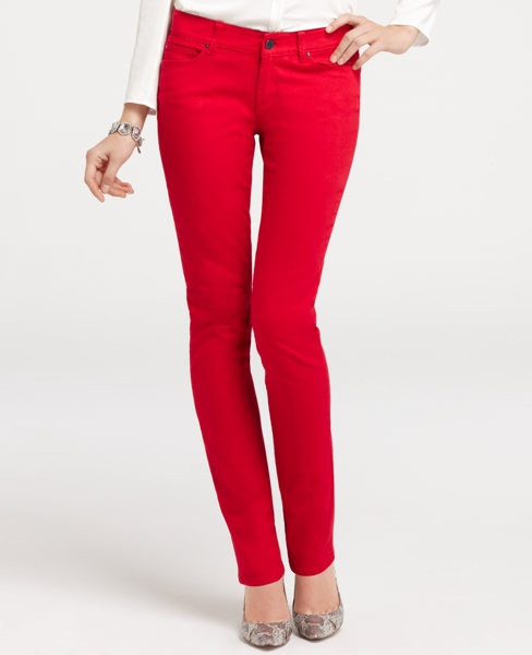 Modern Denim Skinny Jeans in Chili Pepper - been wanting a pair of these! and royal blue ones too!