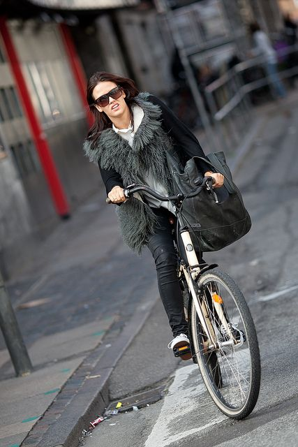Copenhagen cycling with style.