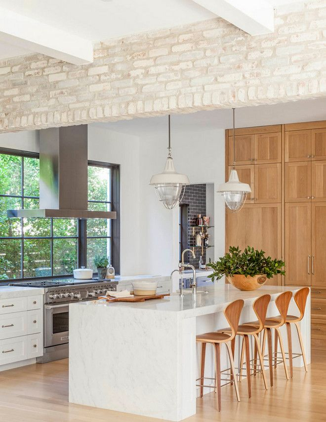White Kitchen Exposed Brick 491 best beautiful white kitchens! images on pinterest | white