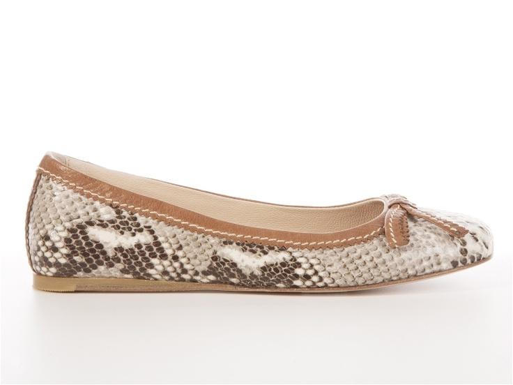 Manas Lea Foscati   Maya leather phython ballerina     From 143.99e get the 50% off