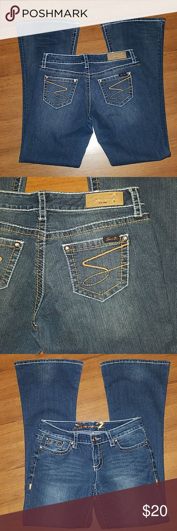 Seven7 Jeans size 30 Seven7 Jeans size 30. Inseam is 32.5 inches. Seven7 Jeans Flare & Wide Leg