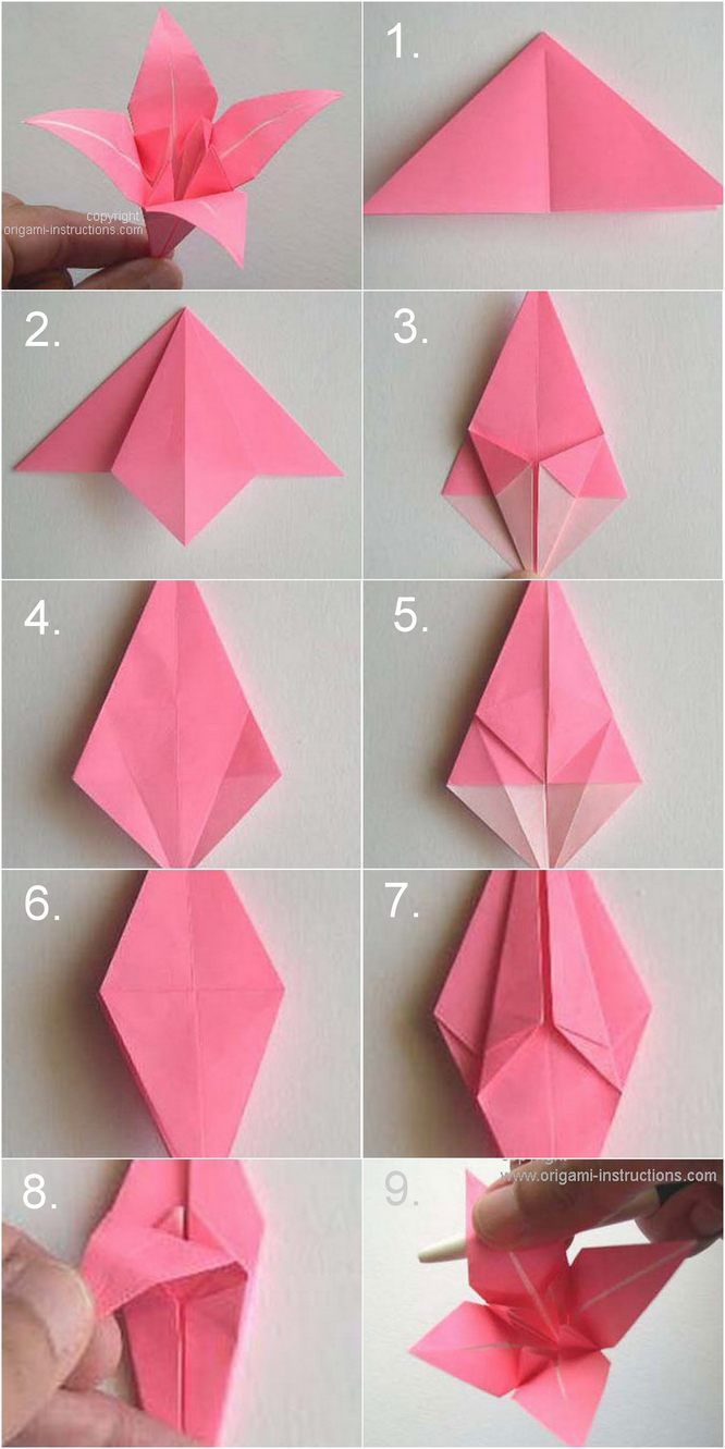 DIY Origami 4 Petal Lily Boutonnierre