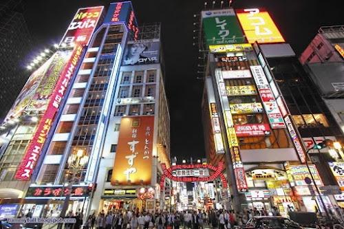 Red light district of Tokyo (Kabukichō).