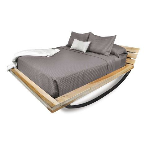 The Flex Bed is Joe Manus' most innovative design since the iconic Mood Rocking  Bed. This is a wooden frame in natural or ebony, on top of a rolled steel  ...