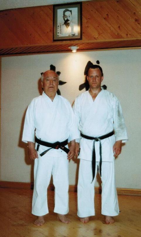Soke Mabuni and Sensei Vincenzo Iellamo - Castelletto Ticino 2000