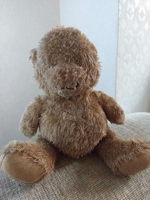 Found on 12 Nov. 2015 @ Curzon Street, Sale M33. My son found this fella in a pile of leaves outside Sainsburys. He has bare patches from lots of cuddles, hopefully we can find his owner, we will take care of him until we do. Visit: https://whiteboomerang.com/lostteddy/msg/aqyij8 (Posted by Alison on 12 Nov. 2015)