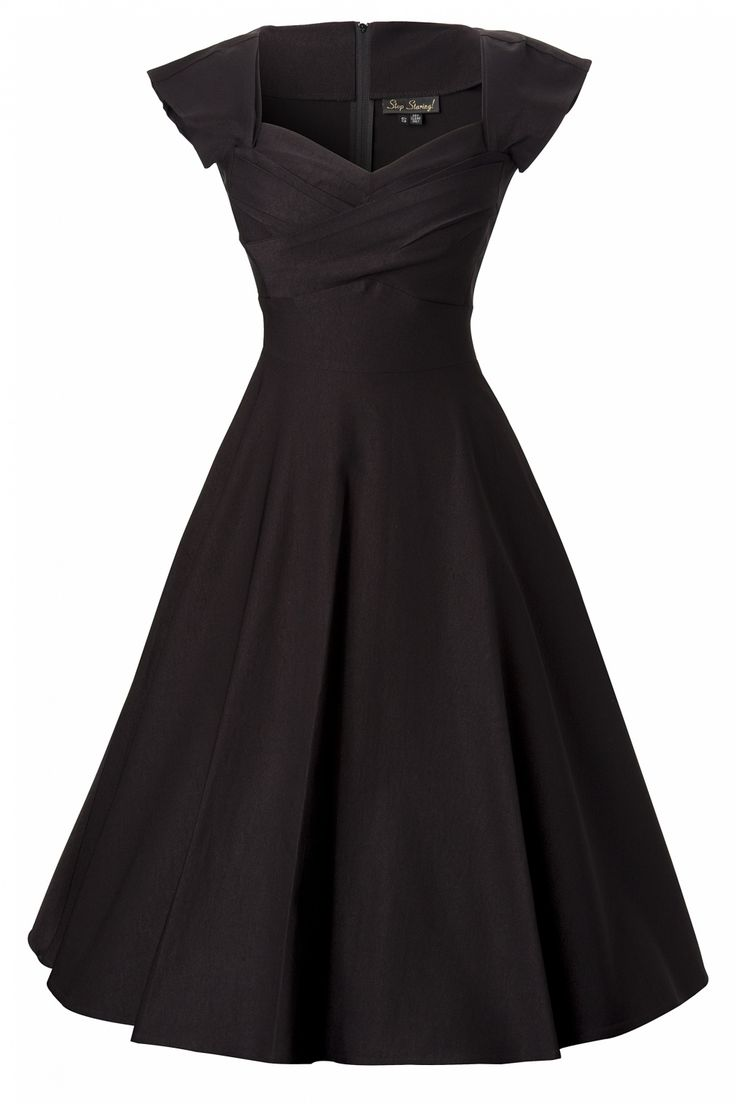 The 50s Mad Men swing dress black by Stop Staring! This is a classy 1950's style Mad Men inspired black dress.