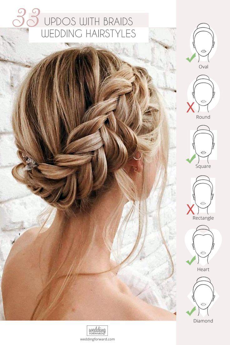 33 wedding updos with braids | hair | hair styles, braided
