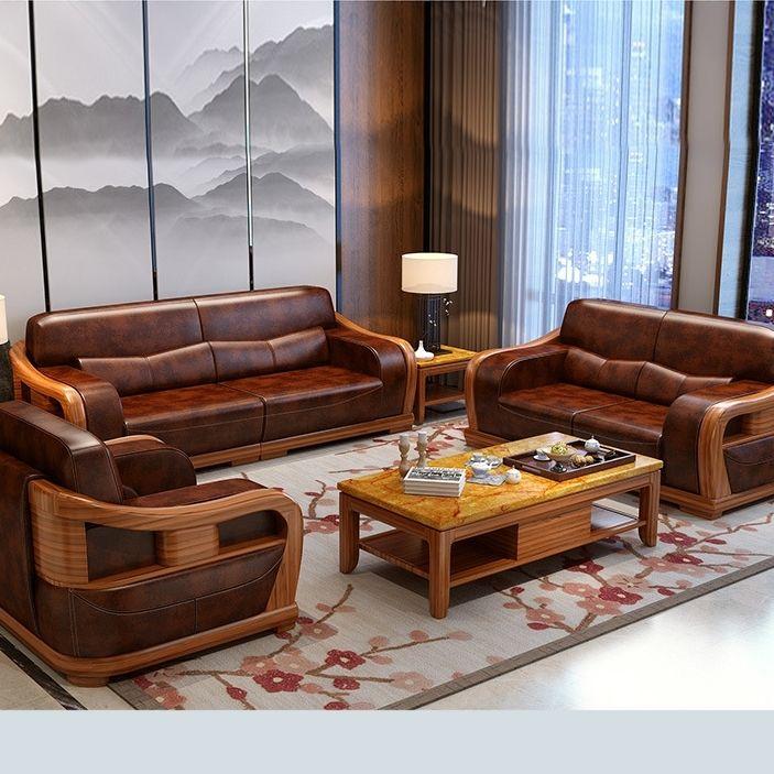 Leather Wooden Sofa Set Wooden Sofa Set Designs Sofa Design Wood Wooden Sofa Designs