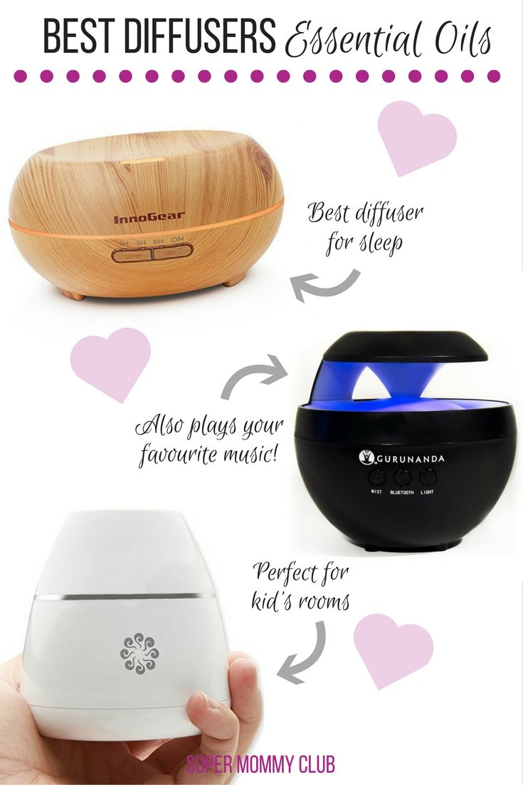 The best essential oil diffusers for 2017 so you can make the most of your aromatherapy oils where ever you are, at home, in the bedroom or in the car!