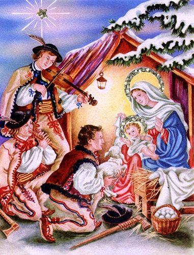 polonia, cartão de natal