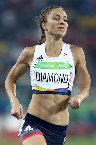 Emily Diamond of Great Britain competes in the Women's 400 meter semifinal on…