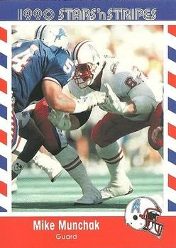 1990 Fleer Stars and Stripes #22 Mike Munchak Front