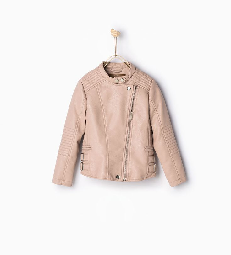 Faux leather jacket-View all-Coats-Girl-Kids | 4-14 years-KIDS | ZARA United States